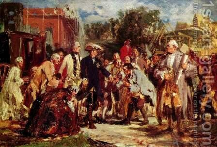 Frederick the Great's Travel by Adolph von Menzel - Reproduction Oil Painting