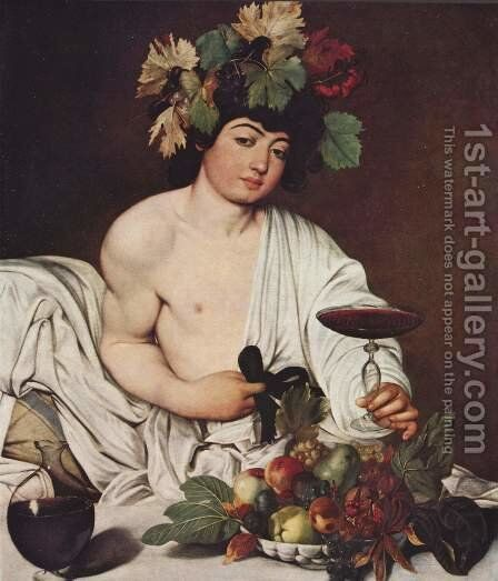 Bacchus 2 by Caravaggio - Reproduction Oil Painting