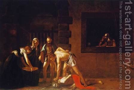 The Beheading of John the Baptist, for the oratory of the Cathedral of San Giovanni dei Cavalieri in Valletta by Caravaggio - Reproduction Oil Painting