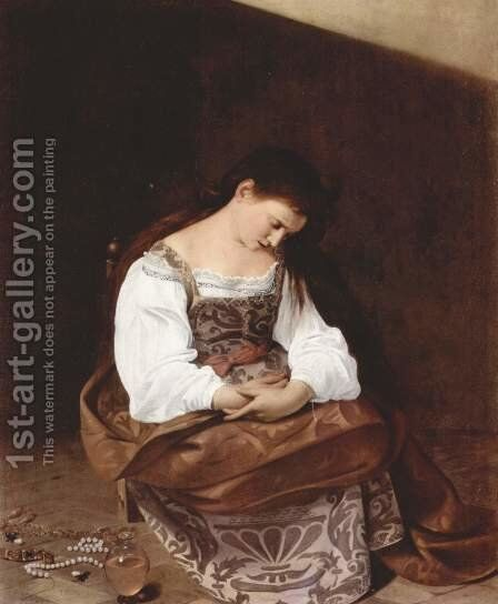Maria Magdalena by Caravaggio - Reproduction Oil Painting