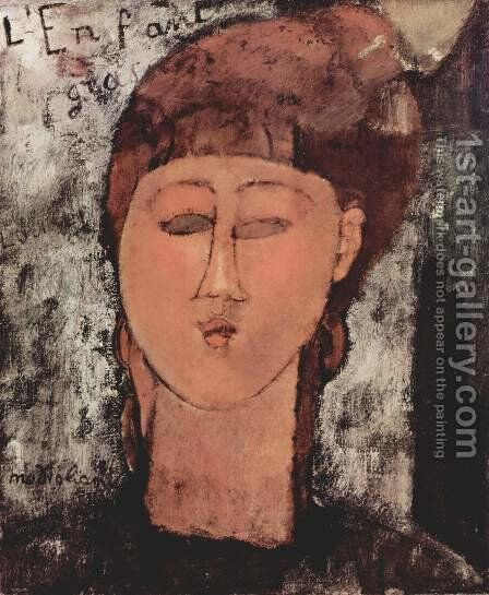 L'enfant gras by Amedeo Modigliani - Reproduction Oil Painting
