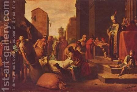 The brothers found the cup from Joseph by Claes Cornelisz Moeyaert - Reproduction Oil Painting