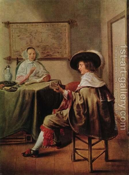 Musician couple by Jan Miense Molenaer - Reproduction Oil Painting