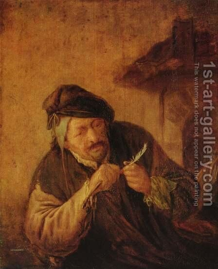 The leather cutter by Adriaen Jansz. Van Ostade - Reproduction Oil Painting