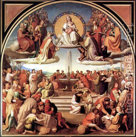 The Triumph of Religion in the Arts by Johann Friedrich Overbeck - Reproduction Oil Painting