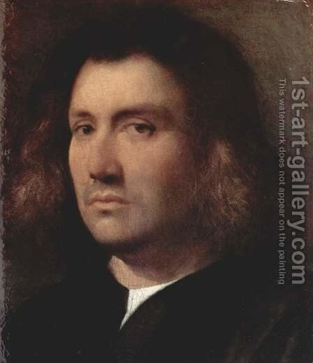 Portrait of a man (bust of a man) by Jacopo d'Antonio Negretti (see Palma Vecchio) - Reproduction Oil Painting