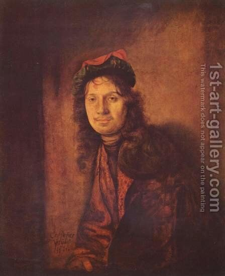 Portrait of a man by Christoph Paudiss - Reproduction Oil Painting
