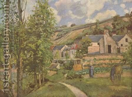 Landscape at Pontoise 2 by Camille Pissarro - Reproduction Oil Painting