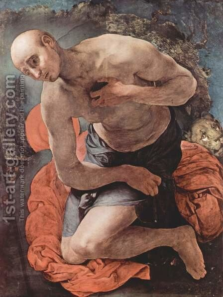 Penitent St. Jerome by (Jacopo Carucci) Pontormo - Reproduction Oil Painting