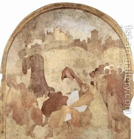 Fresco cycle Passion of Christ in the Certosa del Galluzzo, Szene Christ on the Mount of Olives, fragment by (Jacopo Carucci) Pontormo - Reproduction Oil Painting