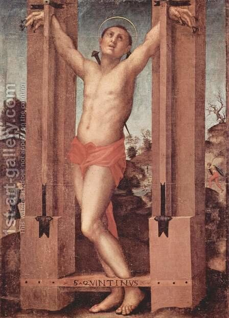 St. Quintinus by (Jacopo Carucci) Pontormo - Reproduction Oil Painting