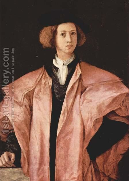Portrait of a young man by (Jacopo Carucci) Pontormo - Reproduction Oil Painting