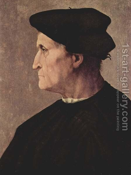 Profile Portrait of a Man (Francesco da Castiglione) by (Jacopo Carucci) Pontormo - Reproduction Oil Painting