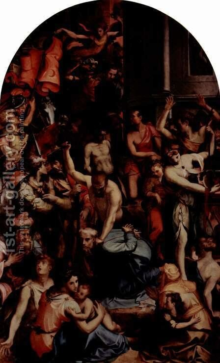 The martyrdom of St. Romulus by Carlo Portelli da Loro - Reproduction Oil Painting