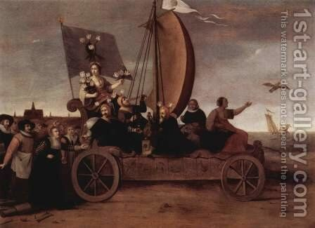 Flora's Malle car by Hendrick Gerritsz Pot - Reproduction Oil Painting
