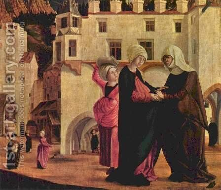 Marie altar scene Visitation by Marx Reichlich - Reproduction Oil Painting