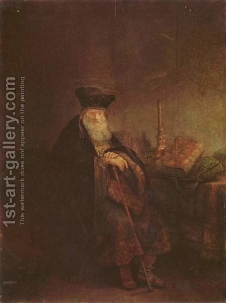 Biblical figure by Rembrandt - Reproduction Oil Painting