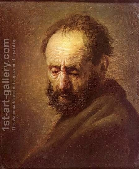 Head of a Man by Rembrandt - Reproduction Oil Painting