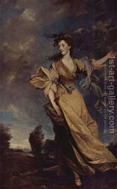 Portrait of Lady Jane Halliday by Sir Joshua Reynolds - Reproduction Oil Painting