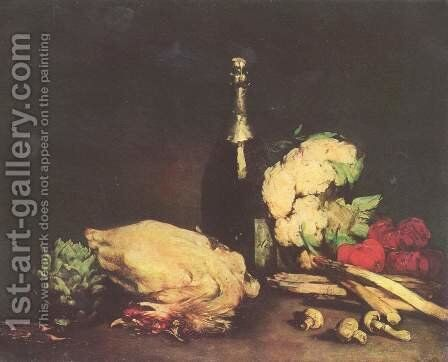 Still life 3 by Theodule Augustine Ribot - Reproduction Oil Painting