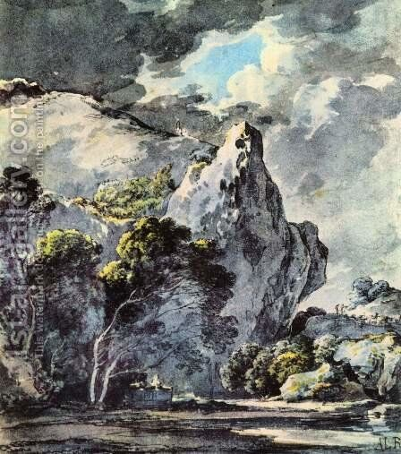 Rocky landscape by Gustav Karl Ludwig Richter - Reproduction Oil Painting