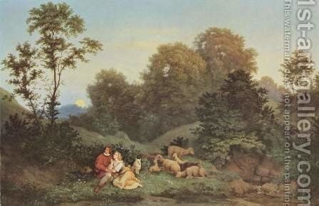 Spring evening by Gustav Karl Ludwig Richter - Reproduction Oil Painting