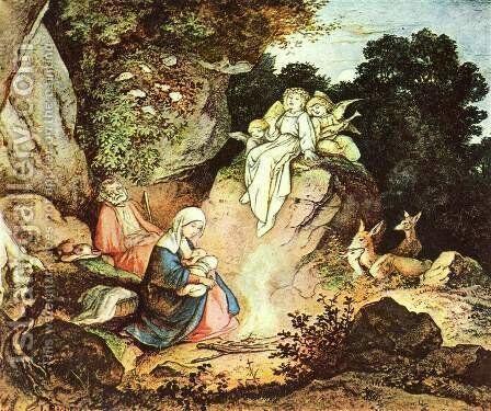 Rest during the Flight into Egypt by Gustav Karl Ludwig Richter - Reproduction Oil Painting