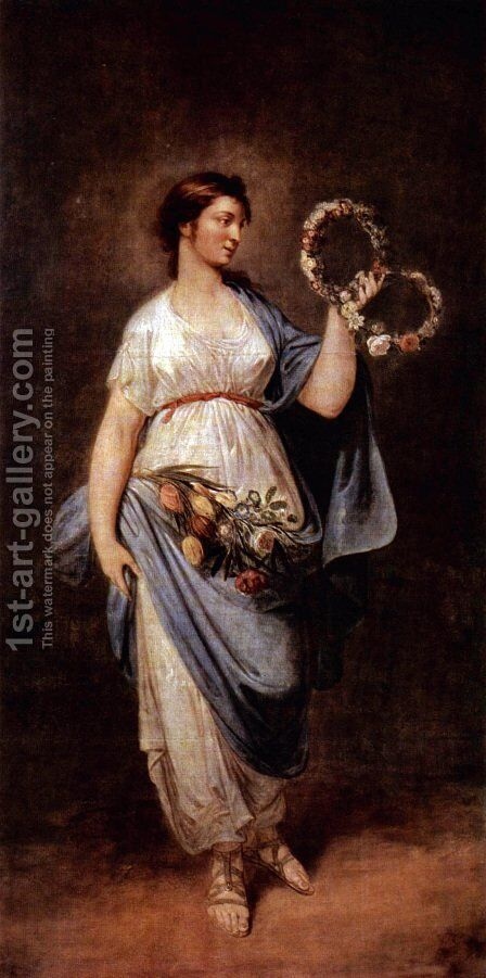 Allegory of Spring by Bernhard Rode - Reproduction Oil Painting