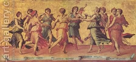 Dance of Apollo with the Muses by Giulio Romano (Orbetto) - Reproduction Oil Painting