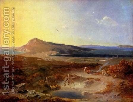 The island of Delos by Carl Rottmann - Reproduction Oil Painting