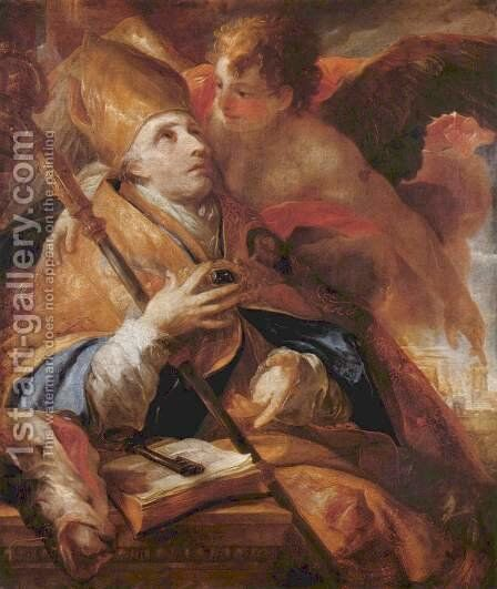 St. Benno by Johann Michael Rottmayr - Reproduction Oil Painting