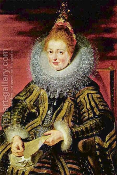 Portrait of the Infanta Isabella Clara Eugenia regent, the southern Netherlands by Rubens - Reproduction Oil Painting