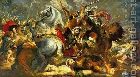 Victory and death of the consul Decius Mus at the battle by Rubens - Reproduction Oil Painting