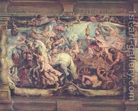 Triumph of the Church on the idolatry by Rubens - Reproduction Oil Painting