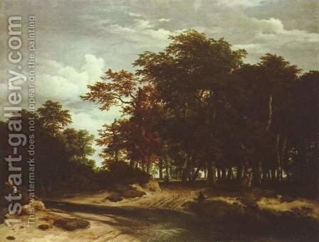 The large wood by Jacob Van Ruisdael - Reproduction Oil Painting