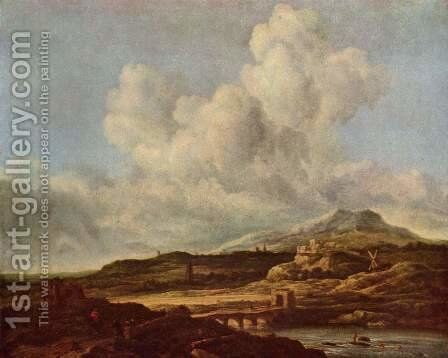 The blast by Jacob Van Ruisdael - Reproduction Oil Painting