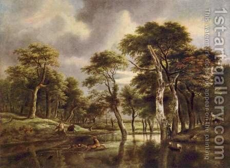 Hunting by Jacob Van Ruisdael - Reproduction Oil Painting