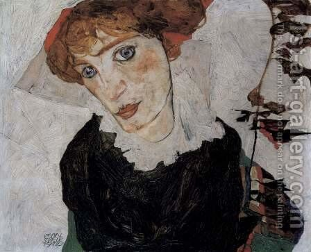 Portrait of Wally by Egon Schiele - Reproduction Oil Painting