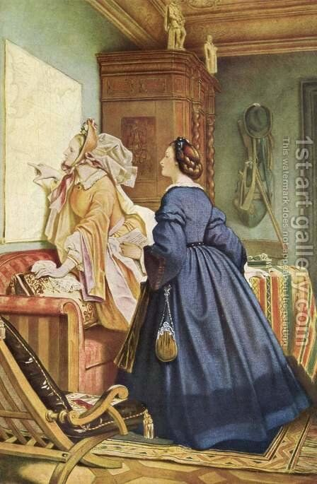 In the house of the artist by Moritz Ludwig von Schwind - Reproduction Oil Painting
