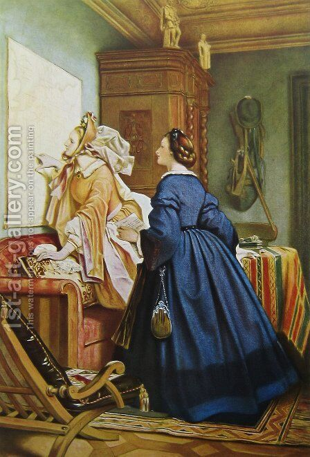 In the house of the artist 2 by Moritz Ludwig von Schwind - Reproduction Oil Painting