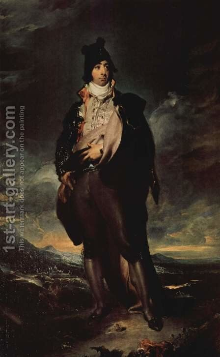 Portrait of Jon Lord Mountstuart by Sir Thomas Lawrence - Reproduction Oil Painting