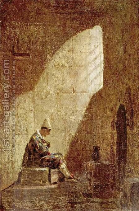 Ash Wednesday - Mercredi des Cendres by Carl Spitzweg - Reproduction Oil Painting