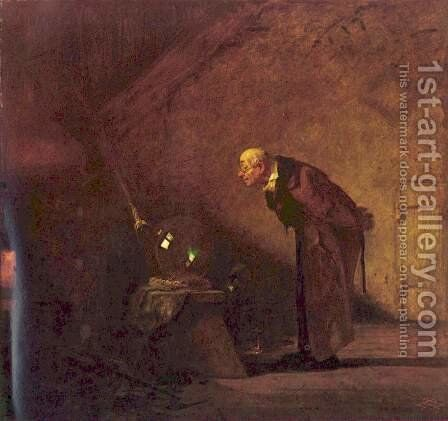The Alchemist by Carl Spitzweg - Reproduction Oil Painting