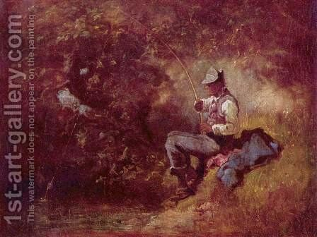 The angler 2 by Carl Spitzweg - Reproduction Oil Painting