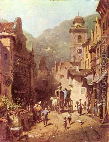 The visit of the father by Carl Spitzweg - Reproduction Oil Painting