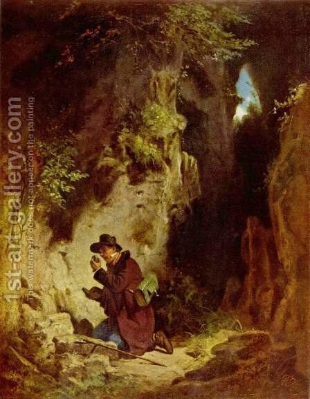The geologist by Carl Spitzweg - Reproduction Oil Painting
