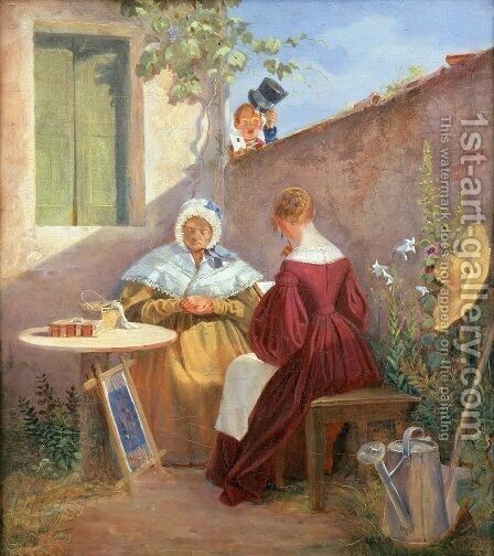 The Love Letter by Carl Spitzweg - Reproduction Oil Painting