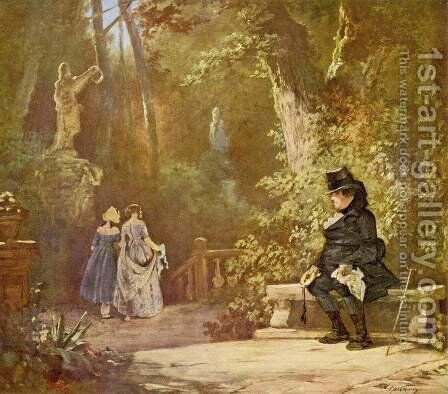The widower by Carl Spitzweg - Reproduction Oil Painting
