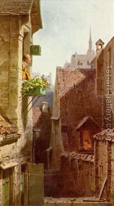 The Hypochondriac 2 by Carl Spitzweg - Reproduction Oil Painting