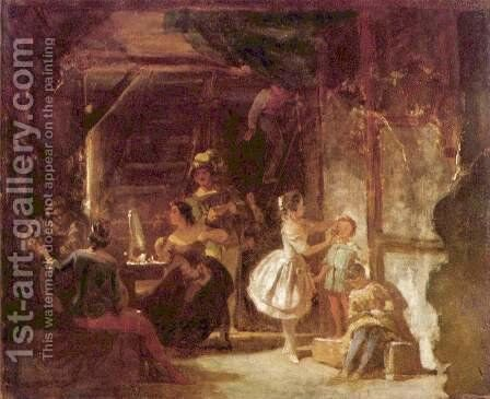 Backstage (Hinter den Kulissen) by Carl Spitzweg - Reproduction Oil Painting